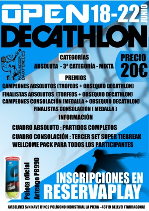 Open Decathlon - Masc ( Absoluta y 3ª) Mixto